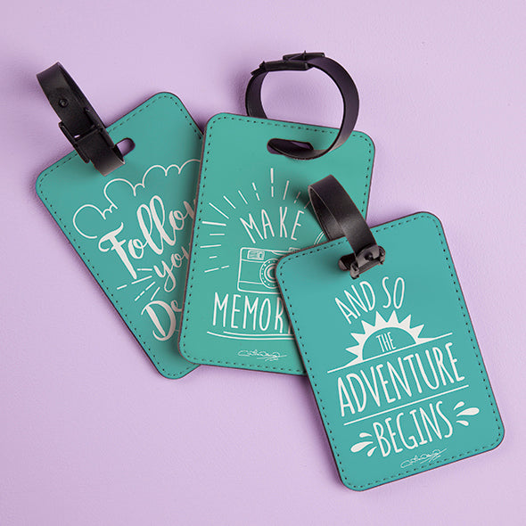 ClaireaBella Turquoise Luggage Tag - Image 3