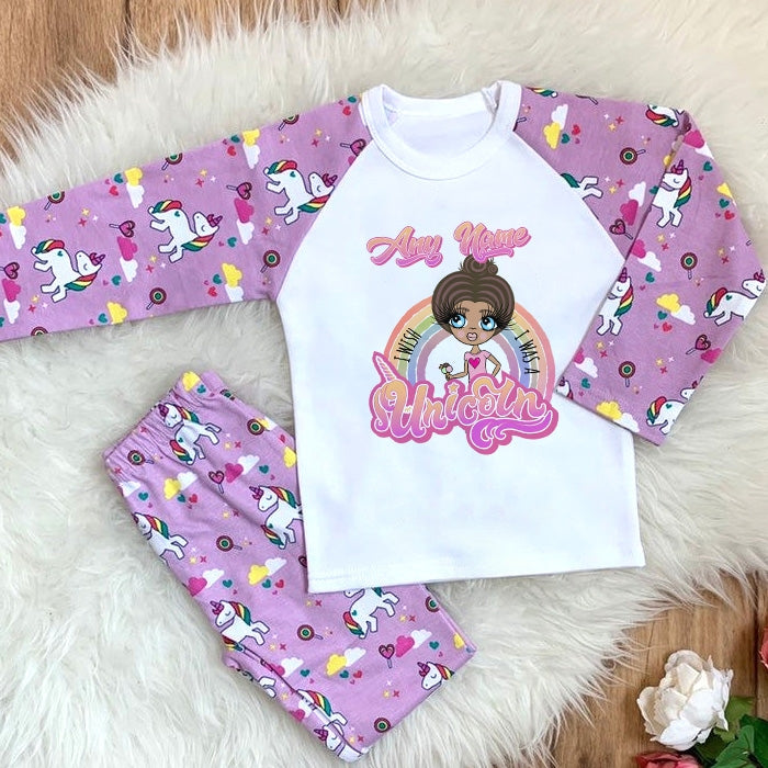 ClaireaBella Girls Unicorn Wish Pyjamas - Image 1