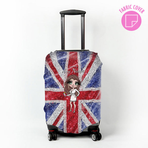 ClaireaBella Glitter Effect Union Jack Suitcase Cover