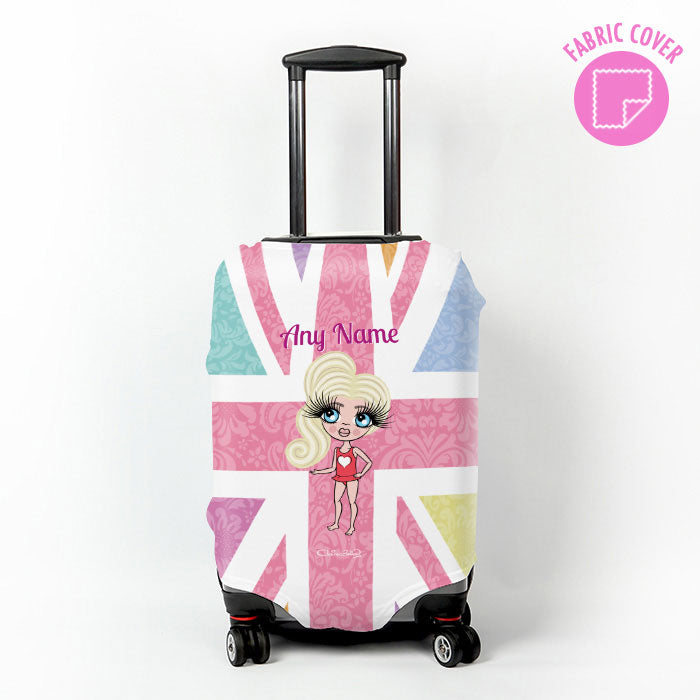ClaireaBella Girls Union Jack Suitcase Cover