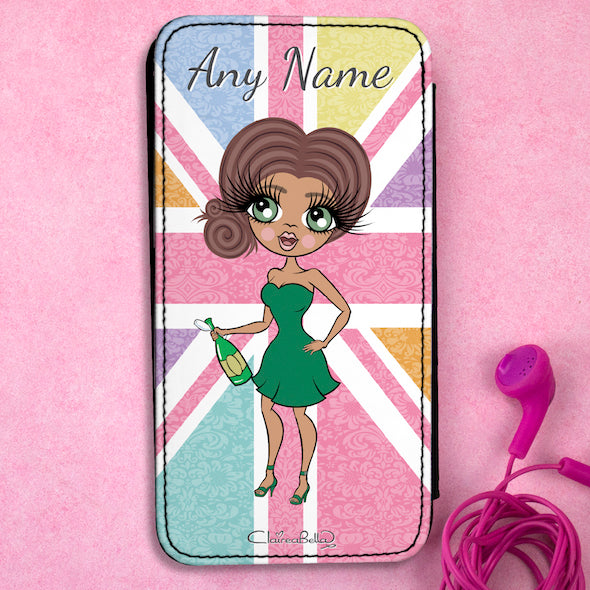 ClaireaBella Personalised Union Jack Flip Phone Case - Image 1