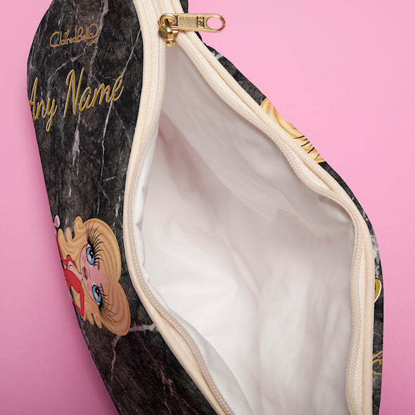 ClaireaBella Marble Effect Wash Bag - Image 3