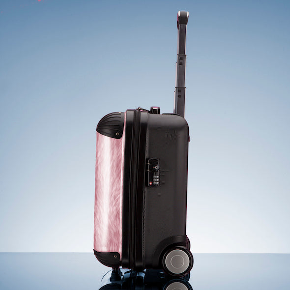 ClaireaBella Girls Fur Effect Weekend Suitcase - Image 7