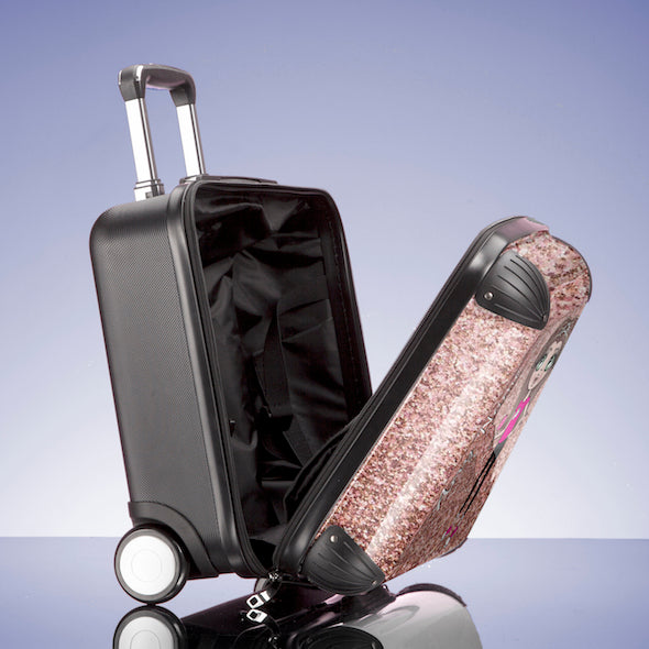 ClaireaBella Girls Glitter Effect Weekend Suitcase - Image 6