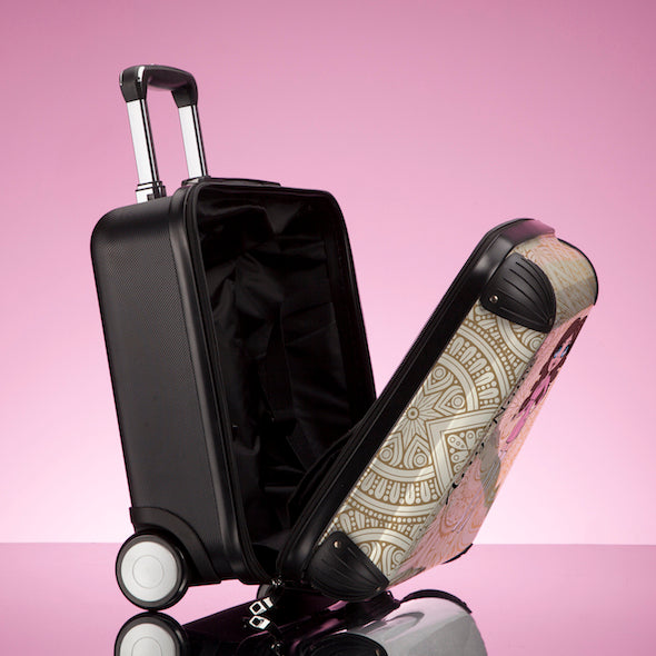 ClaireaBella Girls Golden Lace Weekend Suitcase - Image 6
