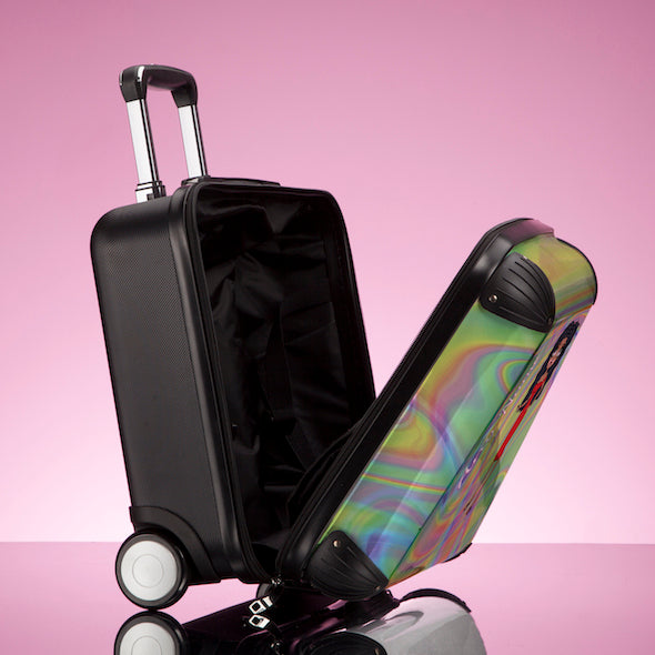 ClaireaBella Girls Hologram Weekend Suitcase - Image 6