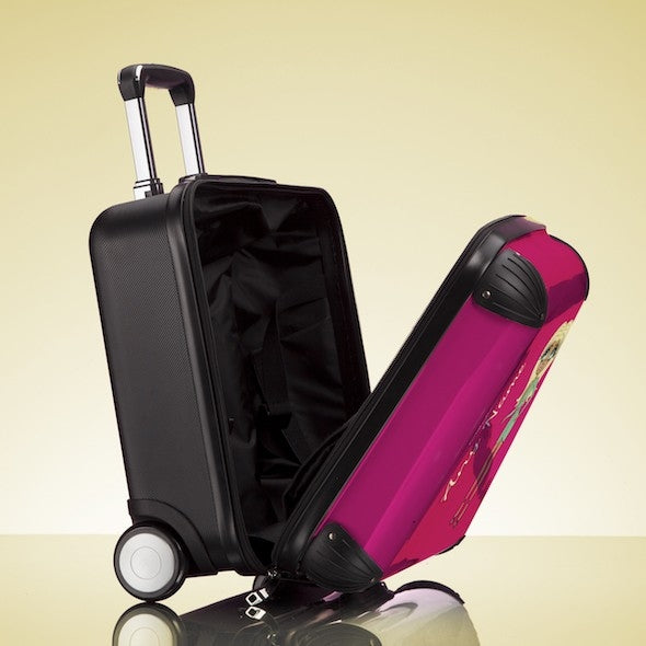 ClaireaBella Girls Hot Pink Weekend Suitcase - Image 6