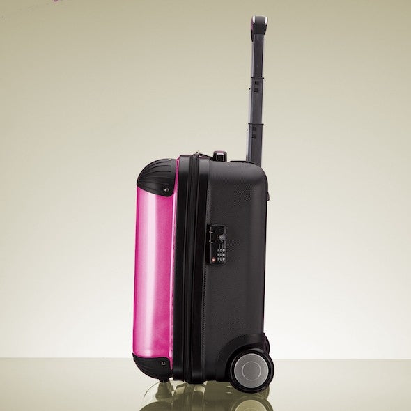 ClaireaBella Girls Hot Pink Weekend Suitcase - Image 5