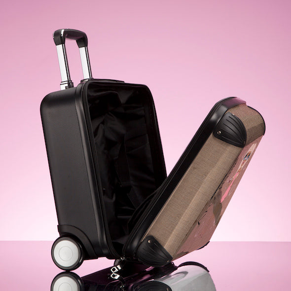 ClaireaBella Jute Print Weekend Suitcase - Image 5