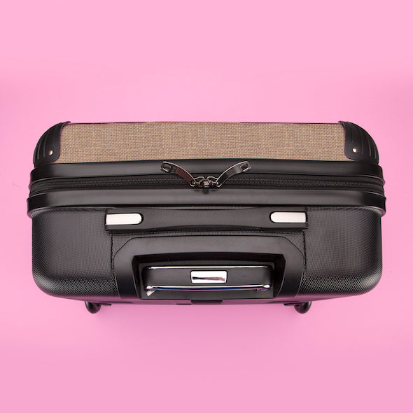 ClaireaBella Jute Print Weekend Suitcase - Image 7
