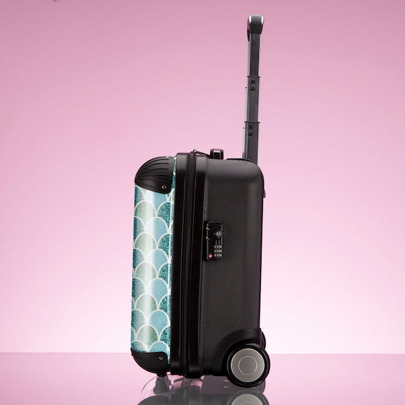 ClaireaBella Mermaid Glitter Effect Weekend Suitcase - Image 7