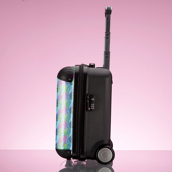 ClaireaBella Girls Neon Leaf Weekend Suitcase - Image 7