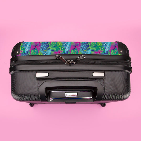 ClaireaBella Girls Neon Leaf Weekend Suitcase - Image 8