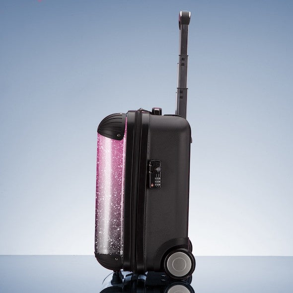 ClaireaBella Girls Ombre Glitter Effect Weekend Suitcase - Image 7