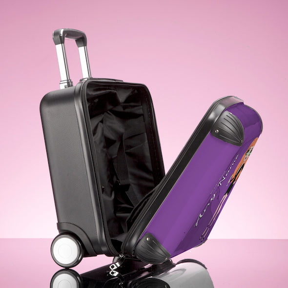 ClaireaBella Girls Purple Weekend Suitcase - Image 5