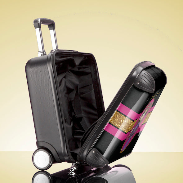 ClaireaBella Slogan Weekend Suitcase - Image 4