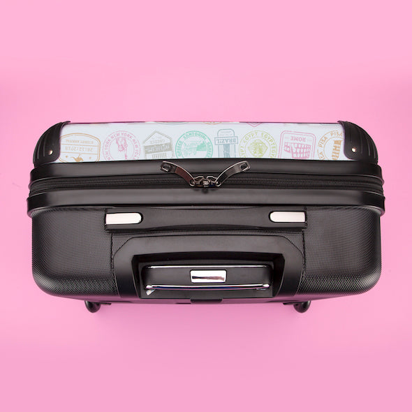 ClaireaBella Girls Travel Stamp Weekend Suitcase - Image 7