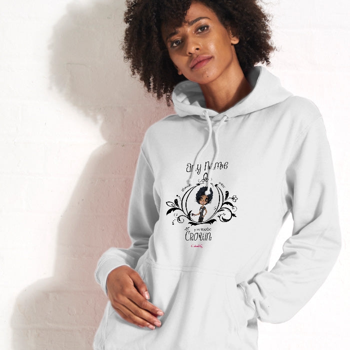 ClaireaBella Black Invisible Crown Hoodie - Image 1