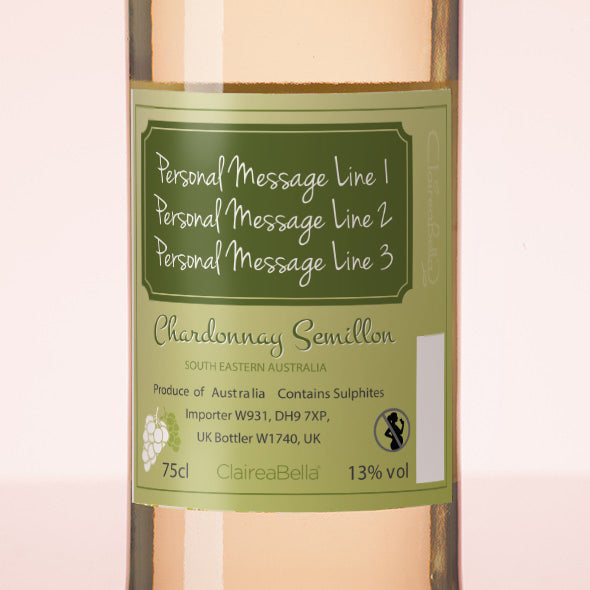 ClaireaBella Personalised White Wine - Golden Vintage - Image 3