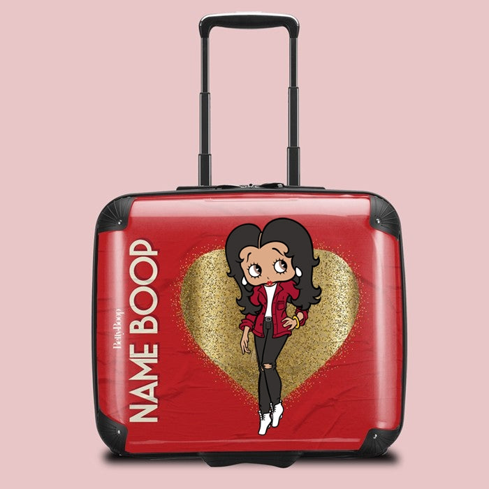 Betty Boop Glitzy Heart Weekend Suitcase - Image 1