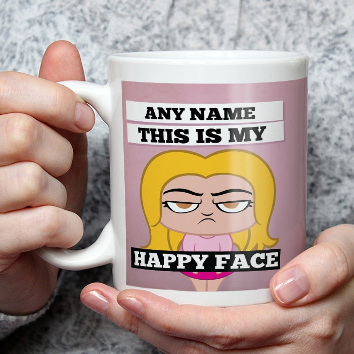 Grumpy Cat Happy Face Mug - Image 1