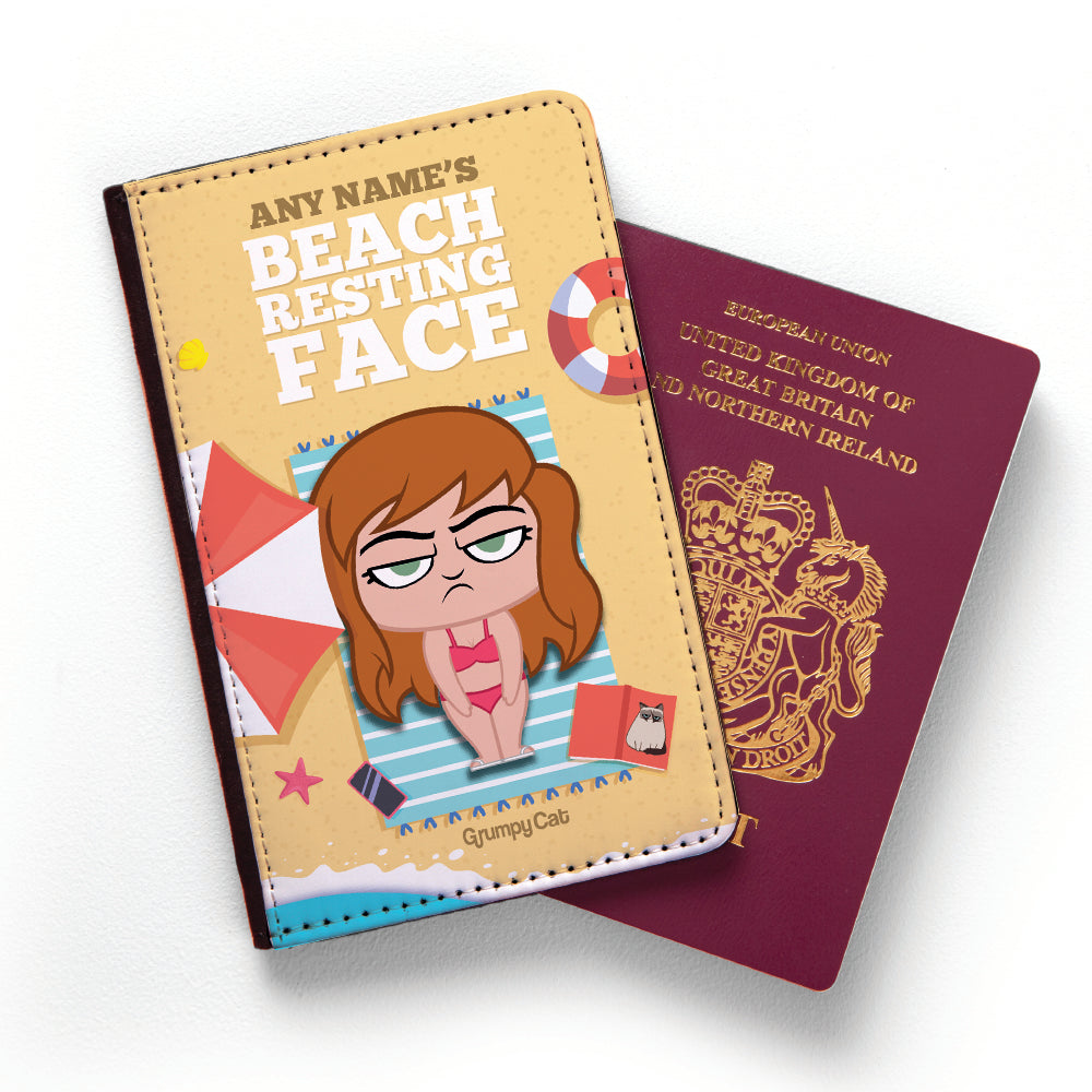 Grumpy Cat Resting Face Passport Cover