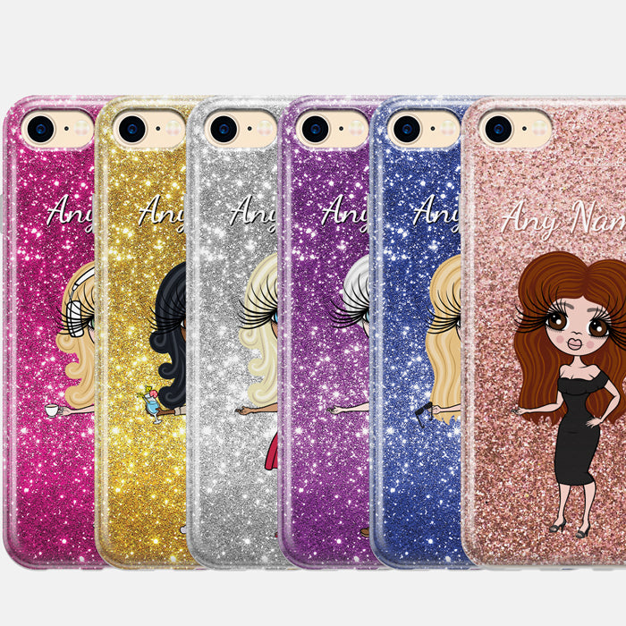 ClaireaBella Personalised Glitter Effect Phone Case