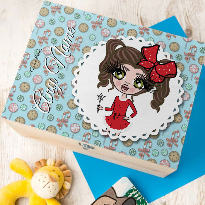 ClaireaBella Girls Candy Cane Christmas Eve Box
