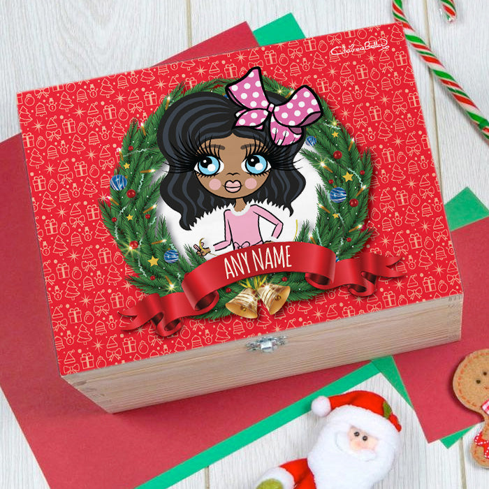 ClaireaBella Girls Festive Wreath Christmas Eve Box