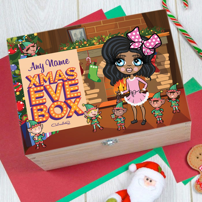 ClaireaBella Girls Elf Fun Christmas Eve Box