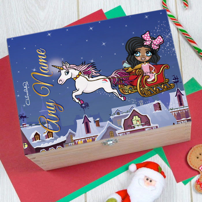 ClaireaBella Girls Unicorn Christmas Eve Box