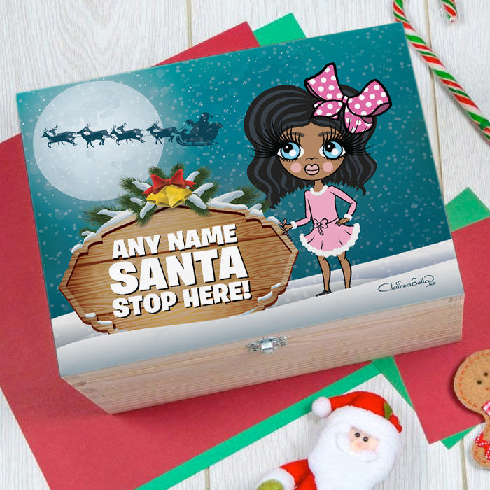 ClaireaBella Girls Santa Stop Here Christmas Eve Box