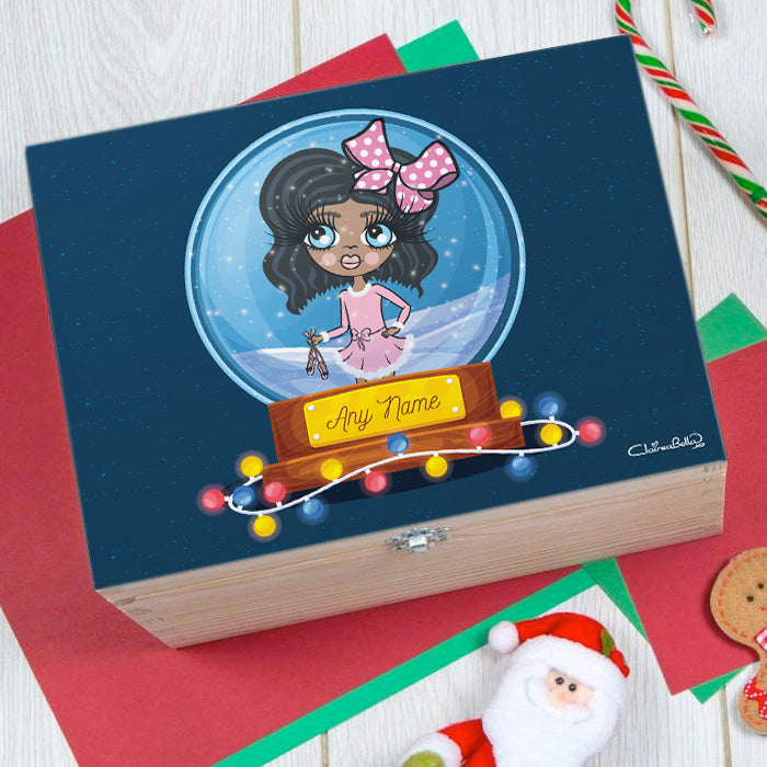 ClaireaBella Girls Snowglobe Christmas Eve Box