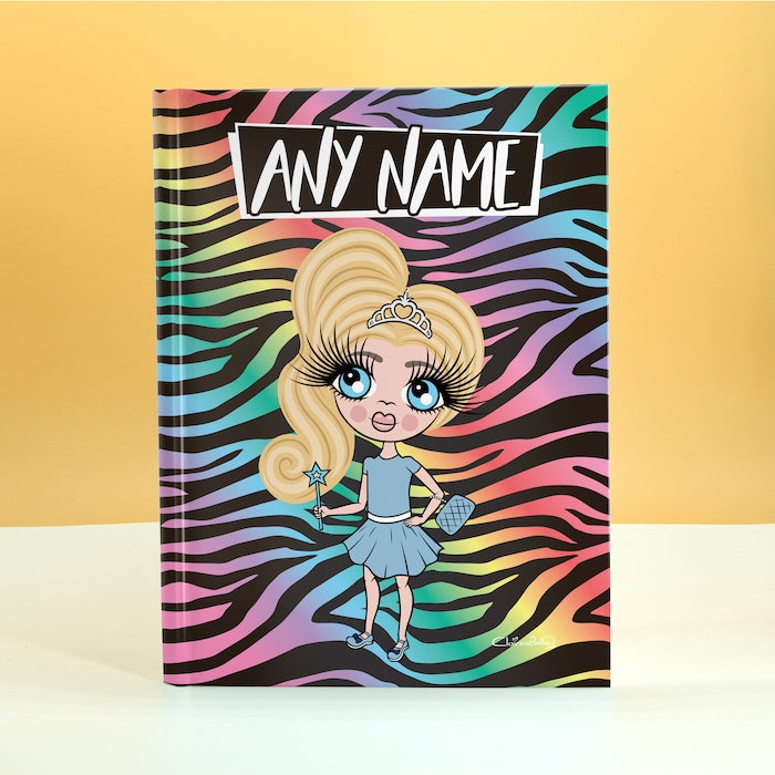 ClaireaBella Girls Vibrant Zebra Print Diary - Image 1