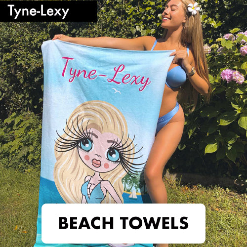 ClaireaBella Personalised Beach Towels