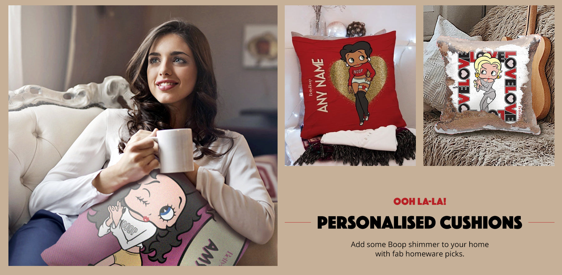 Personalised Betty Boop Home Gifts and Cushions