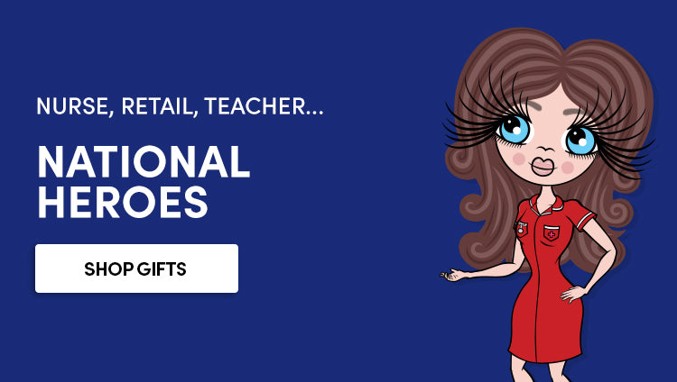 Nurse, retail, teacher - Personalised gifts for national heroes
