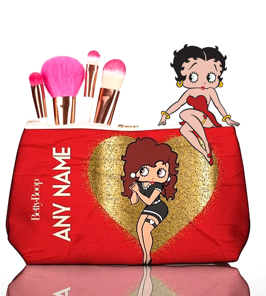 Personalised Betty Boop Make Up Bags