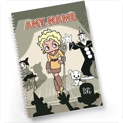 Personalised Betty Boop Stationery and Notebooks