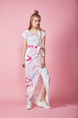 Marble Paper maxi wrap