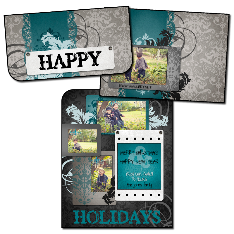 Holiday Boutique Folded - 5x7 Horizontal Tab (A2)