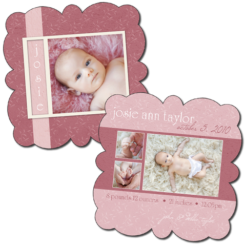 Birth Announcement Boutique  - Curved C1 5x5