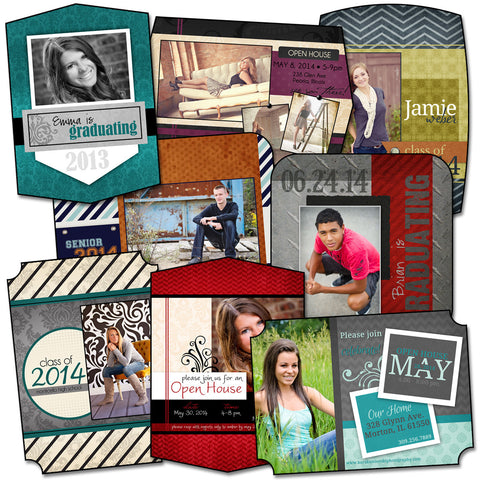 Senior Grad Cards - Pack 3 by KatieAnn Designs