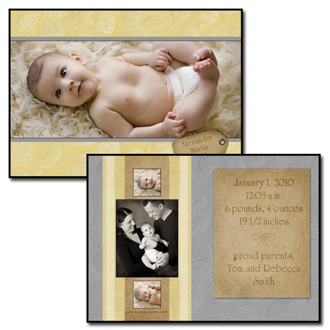 Baby Announcements {Sweet} - 5x7 Card 1