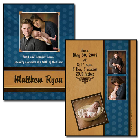 Baby Announcements {Sweet} - 4x5.5 Card 4