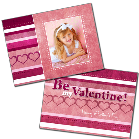 Valentine's Day Cards {Pink} - Card 1