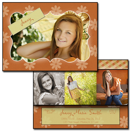 Senior Card {Flower}