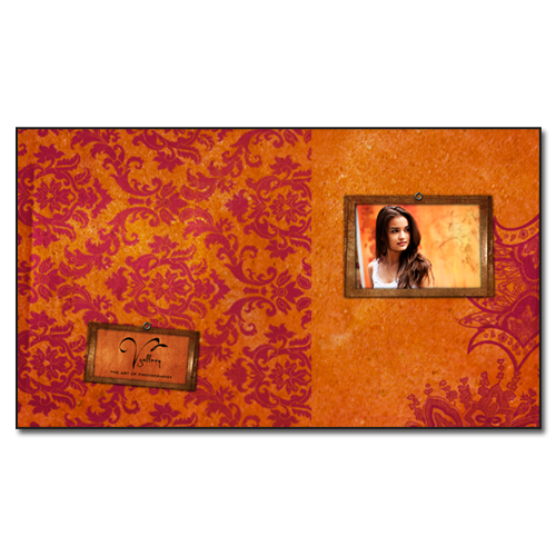 Image Box Template {Orange Flocked}