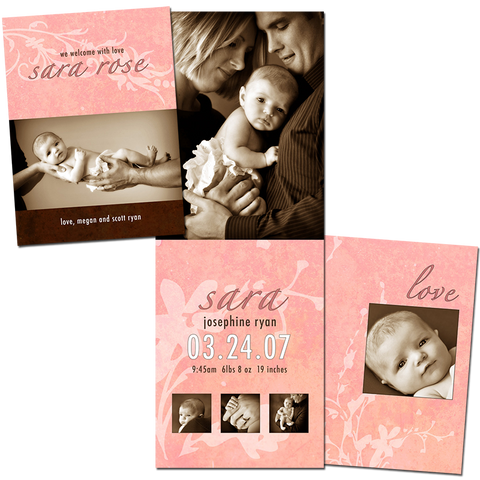 Birth Announcement - Wide Fold 5x7 Card 1