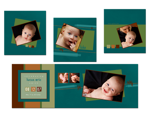 Birth Announcement - Trifold 5x5